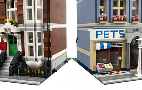 Fixation des modules de l'animalerie - ©LEGO® {JPEG}
